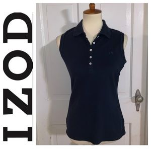 Women's Izod Sleeveless Cotton Polo. Size Medium